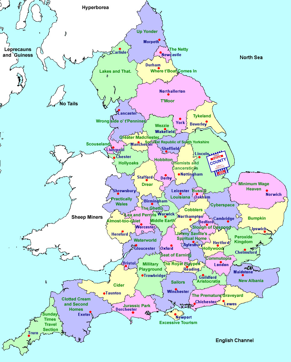 Map Uk Cities Counties